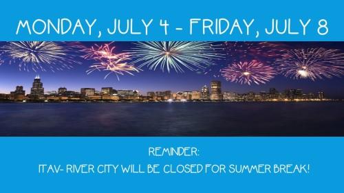 Monday, July 4 - Friday, july